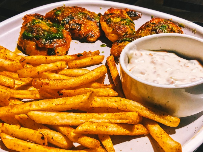 Masala Pan Seared Fish 'N' Chips